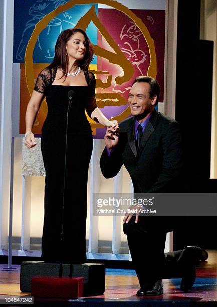 Hosts Gloria Estefan and Jimmy Smits at the 3rd Annual Latin GRAMMY Awards at the Kodak Theater