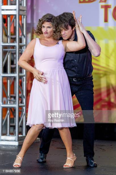 "Hosts Jenna Bush and Willie Geist dressed as Johnny Castle and Frances 'Baby' Houseman of ""Dirty Dancing"" during NBC's ""Today"" Halloween Celebration..."
