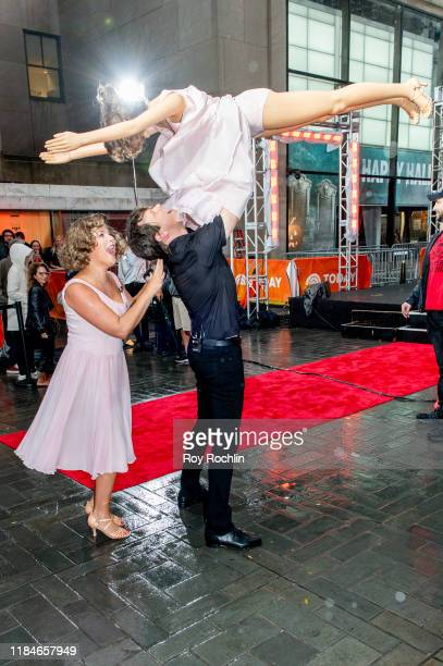 """Hosts Jenna Bush and Willie Geist dressed as Johnny Castle and Frances 'Baby' Houseman of """"Dirty Dancing"""" during NBC's """"Today"""" Halloween Celebration..."""