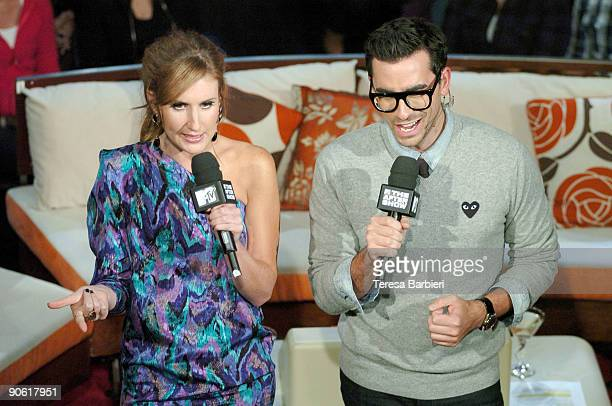 Hosts Jessi Cruickshank and Dan Levy attend MTV's The After Show taping held at the Masonic Temple on September 11 2009 in Toronto Canada