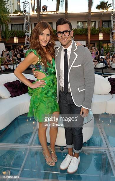 MTV hosts Jessi Cruickshank and Dan Levy attend MTV's The Hills Live A Hollywood Ending Finale event held at The Roosevelt Hotel on July 13 2010 in...