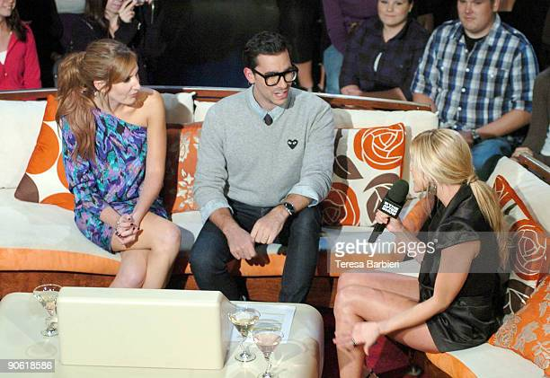 Hosts Jessi Cruickshank Dan Levy and reality TV star Kristin Cavallari attend MTV's The After Show taping held at the Masonic Temple on September 11...