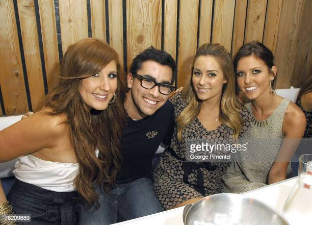 Hosts Jessi Cruickshank Dan Levy with Actors Lauren Conrad and Audrina Patridge of The Hills at the Ultra Supper Club in Toronto August 20 2007