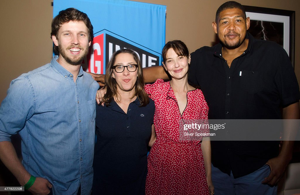 Hosts Jon Heder, Maya Forbes, Alexa Landeau, and Omar Benson Miller attend the SAG/WAGw Party during the 2015 Los Angeles Film Festival at Lucky Strike Lanes at L.A. Live on June 15, 2015 in Los Angeles, California.