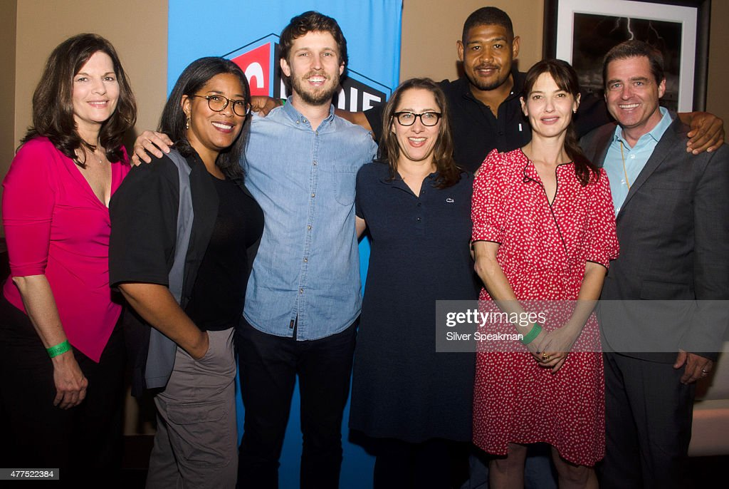 Hosts Jon Heder, Maya Forbes, Alexa Landeau, and Omar Benson Miller with President of Film Independent Josh Welsh attend the SAG/WAGw Party during the 2015 Los Angeles Film Festival at Lucky Strike Lanes at L.A. Live on June 15, 2015 in Los Angeles, California.