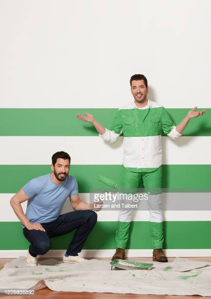 Hosts Jonathan Scott and Drew Scott are photographed for HGTV Magazine on January 9, 2019 in Los Angeles, California. COVER IMAGE.