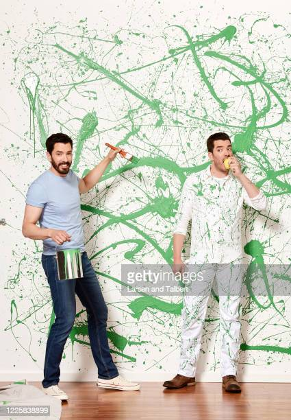 Hosts Jonathan Scott and Drew Scott are photographed for HGTV Magazine on January 9, 2019 in Los Angeles, California.