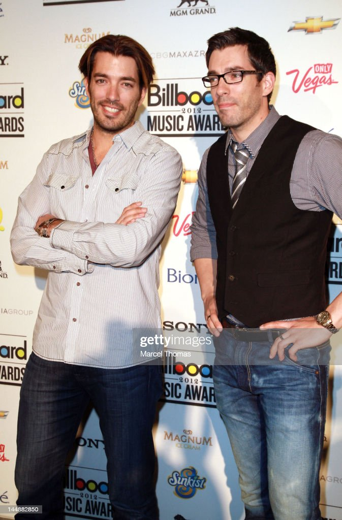 HGTV hosts Jonathan Scott and Drew Scott attend the Billboard Music Awards Pre-Party hosted by Kelly Clarkson at MGM Grand on May 19, 2012 in Las Vegas, Nevada.