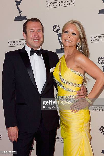 TV hosts Joseph McDonald and Tamara Henry arrive at the Academy of Television Arts Sciences 65th Los Angeles Area Emmy Awards at Leonard H Goldenson...