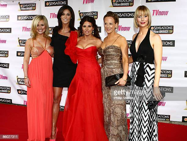 Hosts Karen Koster Glenda Gilson Lisa Cannon Sybil Mulcahy and Aisling O'Loughlin arrive at the TV Now Awards in the Mansion House on April 18 2009...