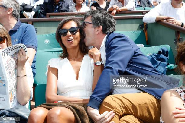TV Hosts Karine Le Marchand and Stephane Plaza attend the 2017 French Tennis Open Day Height at Roland Garros on June 4 2017 in Paris France