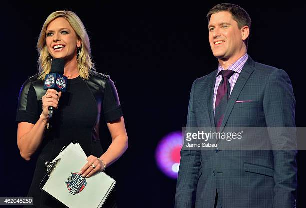 Hosts Kathryn Tappen and Daren Millard speak onstage during the NHL AllStar Fantasy Draft as part of the 2015 NHL AllStar Weekend at Greater Columbus...