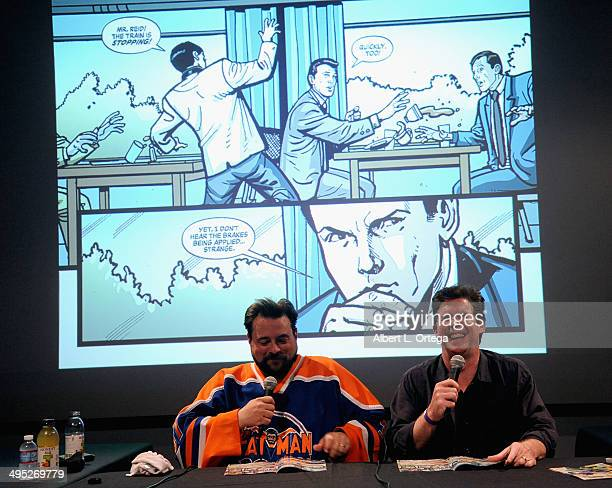 Hosts Kevin Smith and Ralph Garman at the 'Batman 66 Meets The Green Hornet' Comic Book Kickoff Fatman On Batman Live Podcast With Kevin Smith And...