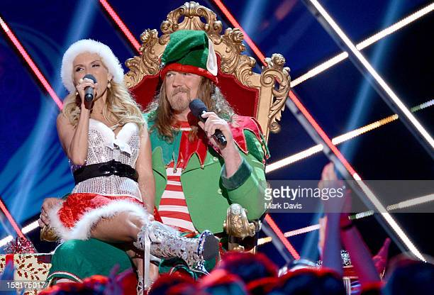 Hosts Kristin Chenoweth and Trace Adkins perform onstage during the 2012 American Country Awards at the Mandalay Bay Events Center on December 10...