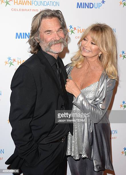 Hosts Kurt Russell and Goldie Hawn attend Goldie Hawn's inaugural 'Love In For Kids' benefiting the Hawn Foundation's MindUp program transforming...