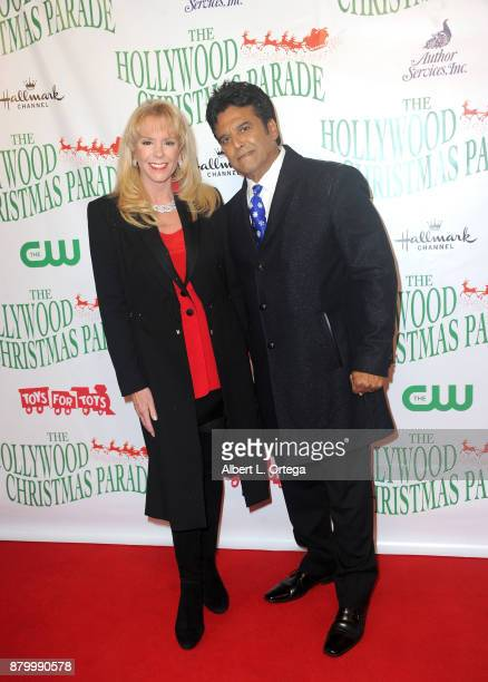 Hosts Laura McKenzie and Erik Estrada arrive at the 86th Annual Hollywood Christmas Parade held at Author Services Inc on November 26 2017 in...