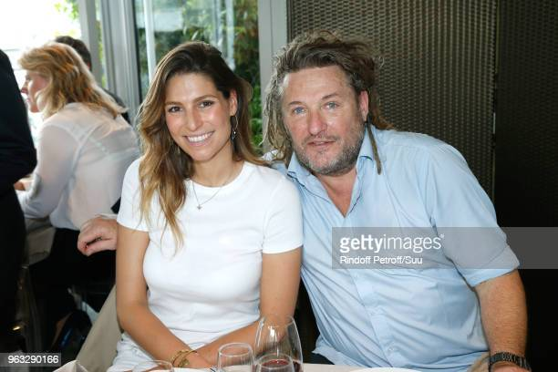 Hosts Laury Thilleman and Olivier Delacroix attend the 'France Television' Lunch during the 2018 French Open Day Two at Roland Garros on May 28 2018...