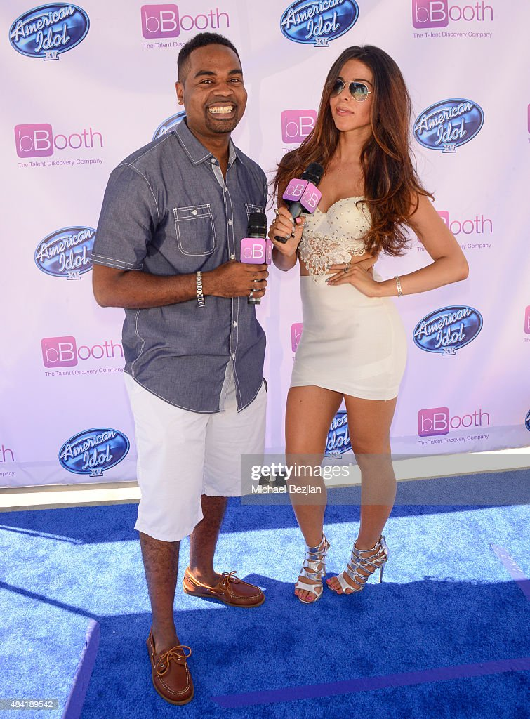 Hosts Lazarus and Jennifer Tapiero attend American Idol Auditions At bBooth on August 15, 2015 in Culver City, California.