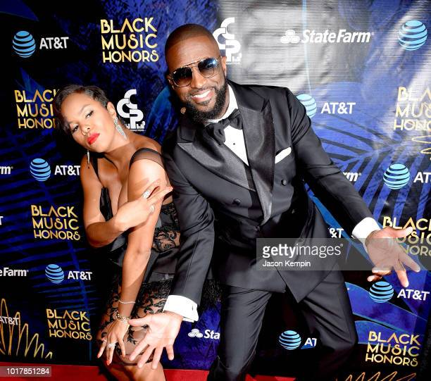 Hosts LeToya Luckett and Rickey Smiley attend the 2018 Black Music Honors at Tennessee Performing Arts Center on August 16 2018 in Nashville Tennessee