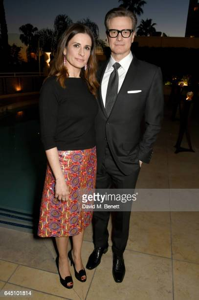 Hosts Livia Firth and Colin Firth attend a dinner to celebrate The GCC and The Journey To Sustainable Luxury on February 24 2017 in Los Angeles...