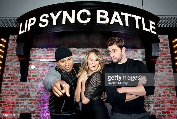 Hosts LL Cool J Chrissy Teigen and Producer John Krasinski attend the FYC Event Spike's 'Lip Sync Battle' at Saban Media Center on June 14 2016 in...