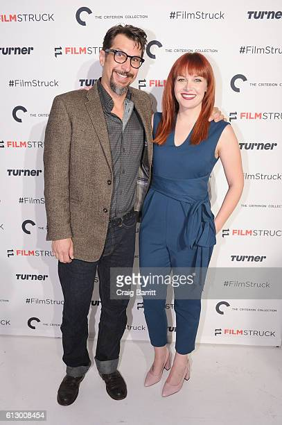 Hosts Lucky Yates and Alicia Malone attend the FilmStruck launch event at 404 NYC on October 6 2016 in New York City