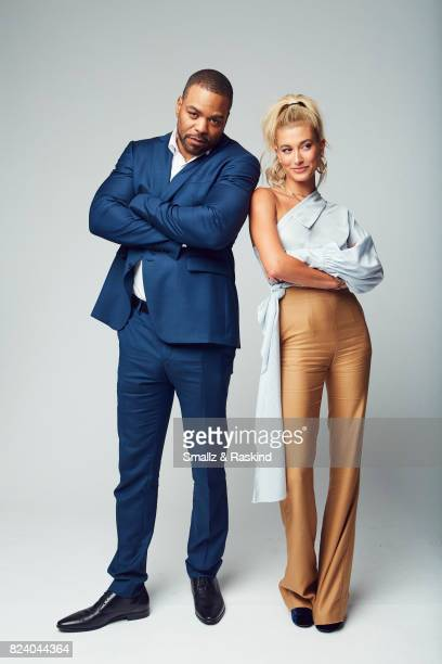 Hosts Method Man and Hailey Baldwin of Turner Networks 'TBS Drop the Mic' pose for a portrait during the 2017 Summer Television Critics Association...