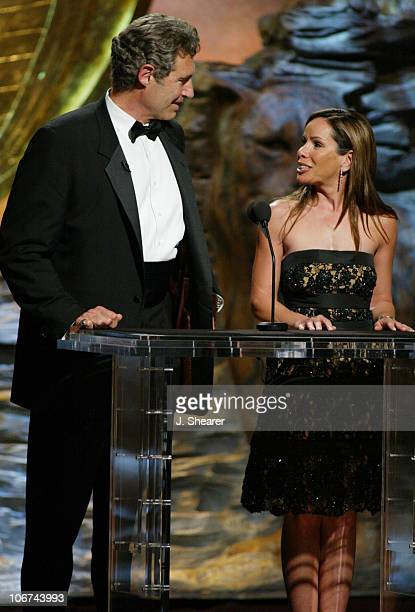 Hosts Michael Nouri and Melissa Rivers during The 18th Annual Genesis Awards and 50th Anniversary of the Humane Society of the United States Show at...
