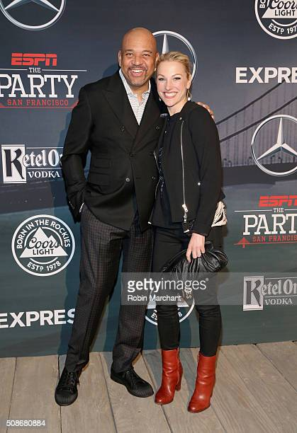 ESPN hosts Michael Wilbon and Lindsay Czarniak attend ESPN The Party on February 5 2016 in San Francisco California