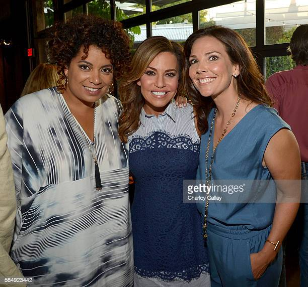 TV hosts Michaela Pereira Robin Meade and Erica Hill attend the TCA Turner Summer Press Tour Dinner at SmogShoppe on July 31st 2016 in Los Angeles...