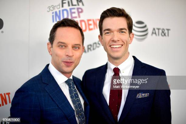 Hosts Nick Kroll and John Mulaney attend the 2018 Film Independent Spirit Awards on March 3 2018 in Santa Monica California