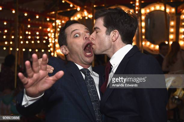 Hosts Nick Kroll and John Mulaney attend the 2018 Film Independent Spirit Awards after party at XXX on March 3 2018 in Santa Monica California