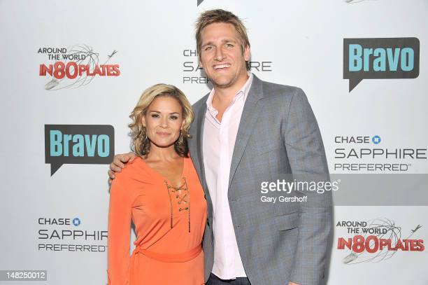 Hosts of 'Around the World in 80 Plates' Cat Cora and Curtis Stone attend Bravo's 'Around The World In 80 Plates' Finale Celebration at Metropolitan...