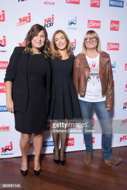 TV Hosts of Cherie 25 Evelyne Thomas Veronique Mounier and Christine Bravo attend the NRJ's Press Conference to Announce Their Schedule for 2017/2018...