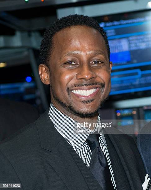Hosts of ESPNs College GameDay Desmond Howard attends the NYSE opening bell at New York Stock Exchange on December 15 2015 in New York City