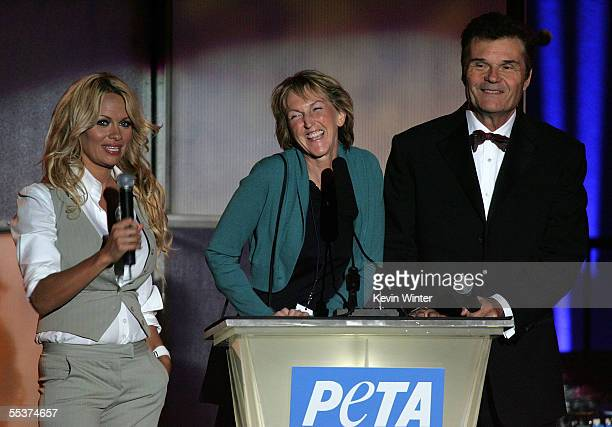 Hosts Pamela Anderson, Fred Willard and Ingrid Newkirk, co-founder and current president of PETA ends PETA?s 15th Anniversary Gala and Humanitarian...