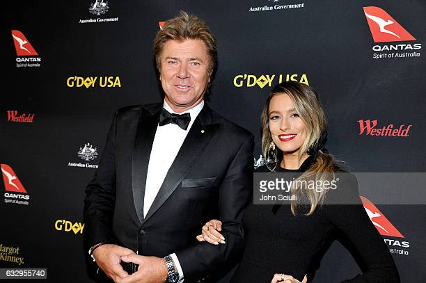 Hosts Richard Wilkins and Renee Bargh attend the 2017 G'Day Black Tie Gala at Governors Ballroom At Hollywood And Highland on January 28 2017 in...