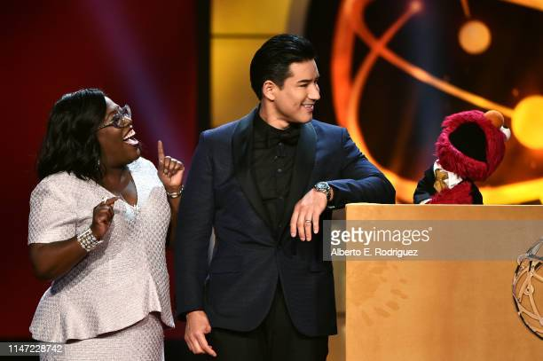 Hosts Sheryl Underwood and Mario Lopezspeak onstage at the 46th annual Daytime Emmy Awards at Pasadena Civic Center on May 05 2019 in Pasadena...