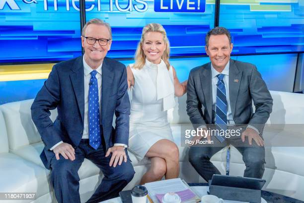 """Hosts Steve Doocy, Ainsley Earhardt and Brian Kilmeade as film producer Brian Grazer visits """"Fox & Friends"""" to discuss his new book """"Face to Face:..."""