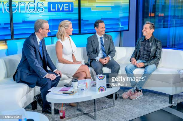 """Hosts Steve Doocy, Ainsley Earhardt and Brian Kilmeade with film producer Brian Grazer as he visits """"Fox & Friends"""" to discuss his new book """"Face to..."""