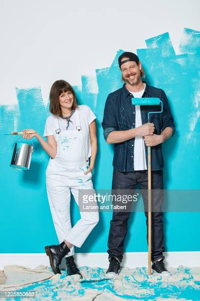 Hosts Steve Ford and Leanne Ford are photographed for HGTV Magazine on December 7, 2018 in New York City.