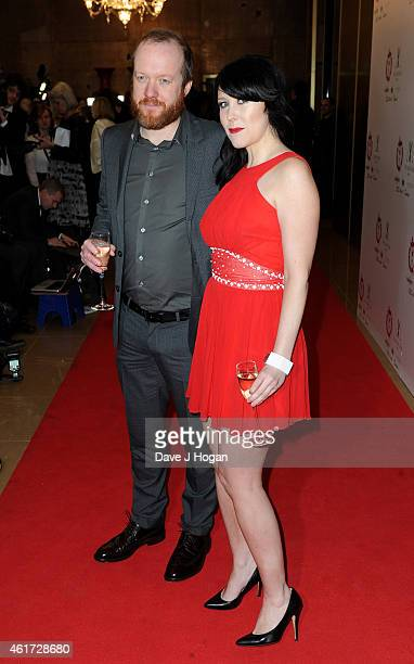 Hosts Steve Oram and Alice Lowe attend The London Critics' Circle Film Awards at The Mayfair Hotel on January 18 2015 in London England