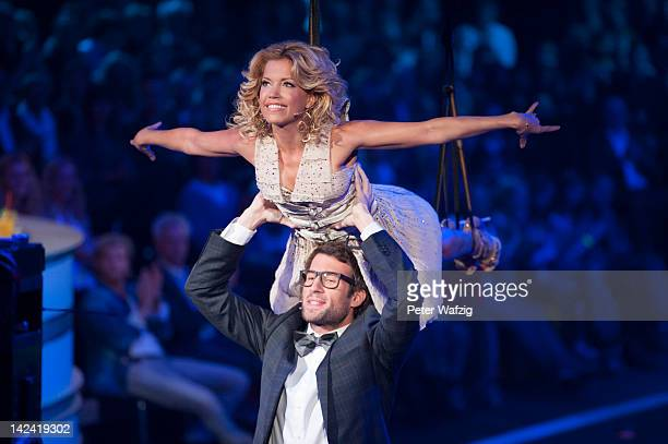 Hosts Sylvie van der Vaart and Daniel Hartwich perform during 'Let's Dance' 4th Show at Coloneum on April 04 2012 in Cologne Germany