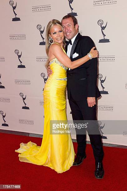 TV hosts Tamara Henry and Joseph McDonald arrive at the Academy of Television Arts Sciences 65th Los Angeles Area Emmy Awards at Leonard H Goldenson...