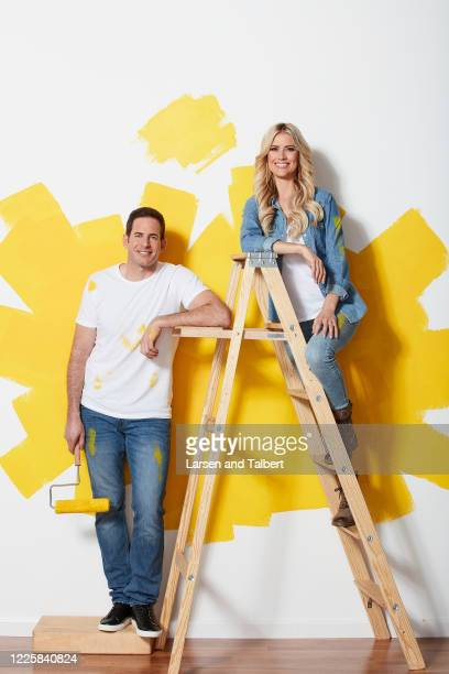 Hosts Tarek El Moussa and Christina Anstead are photographed for HGTV Magazine on January 22, 2019 in Los Angeles, California. COVER IMAGE.