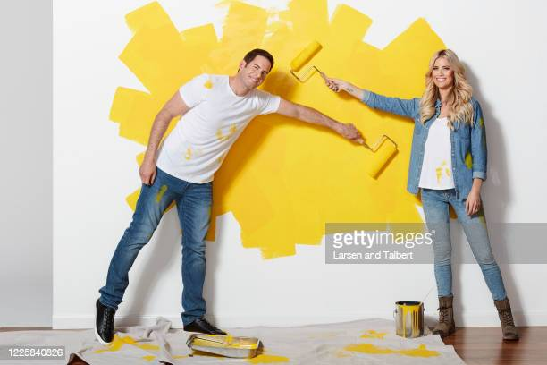 Hosts Tarek El Moussa and Christina Anstead are photographed for HGTV Magazine on January 22, 2019 in Los Angeles, California.