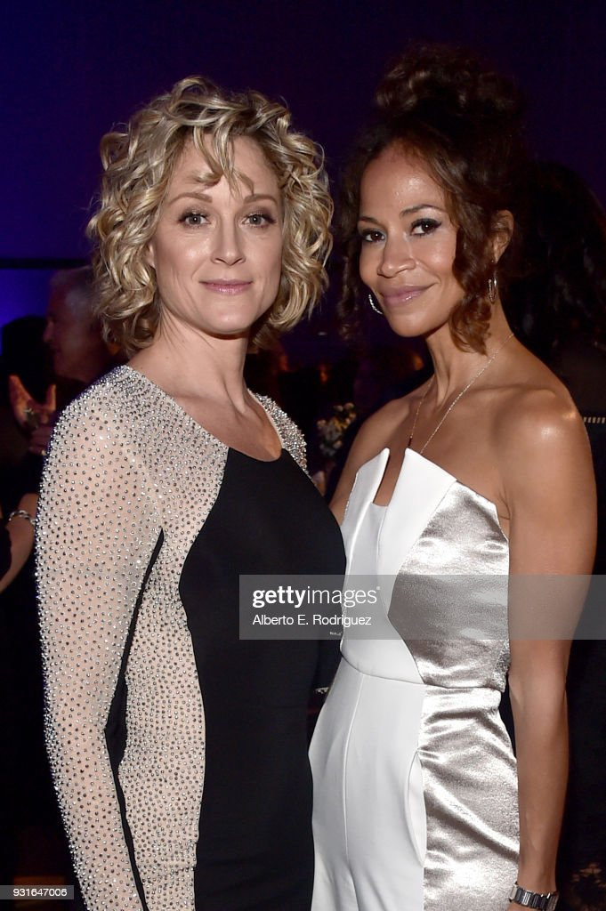 Hosts Teri Polo (L) and Sherri Saum attend A Legacy Of Changing Lives presented by the Fulfillment Fund at The Ray Dolby Ballroom at Hollywood & Highland Center on March 13, 2018 in Hollywood, California.