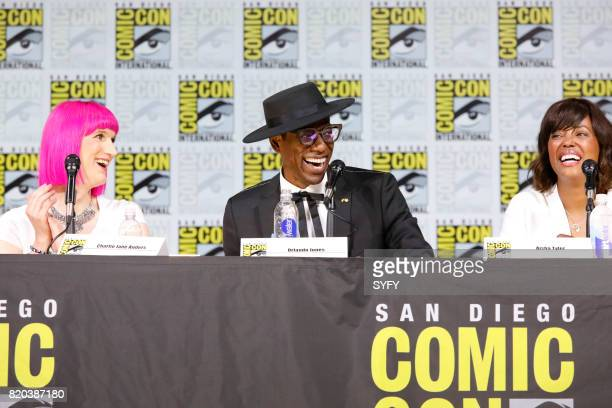 DIEGO 'SYFY Hosts The Great Debate Panel' Pictured Charlie Jane Anders Orlando Jones and Aisha Tyler