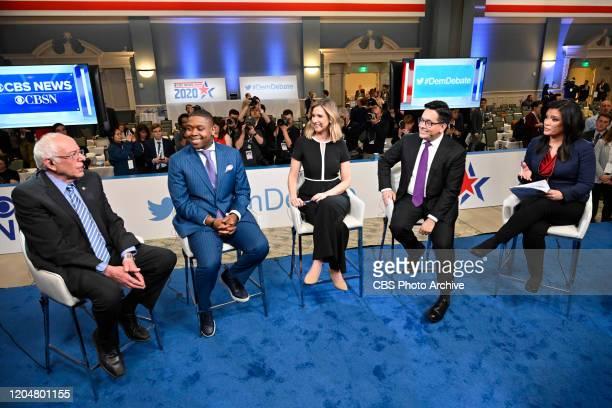 CBSN hosts the Postdebate show at the 2020 Democratic Presidential Primary Debate in Charleston SC on February 25 2020 Pictured Senator Bernie...