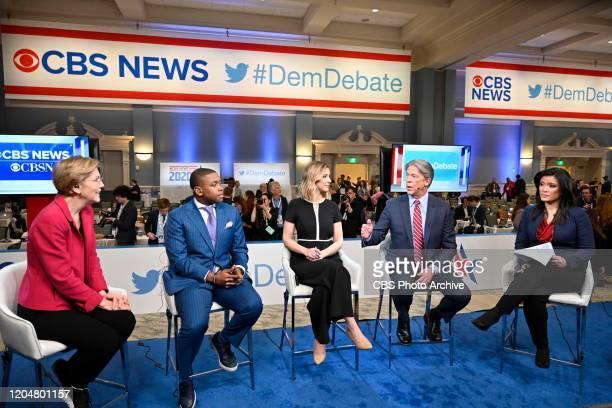 CBSN hosts the Postdebate show at the 2020 Democratic Presidential Primary Debate in Charleston SC on February 25 2020 Pictured Senator Elizabeth...